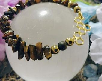 Gold and Honey Bracelet