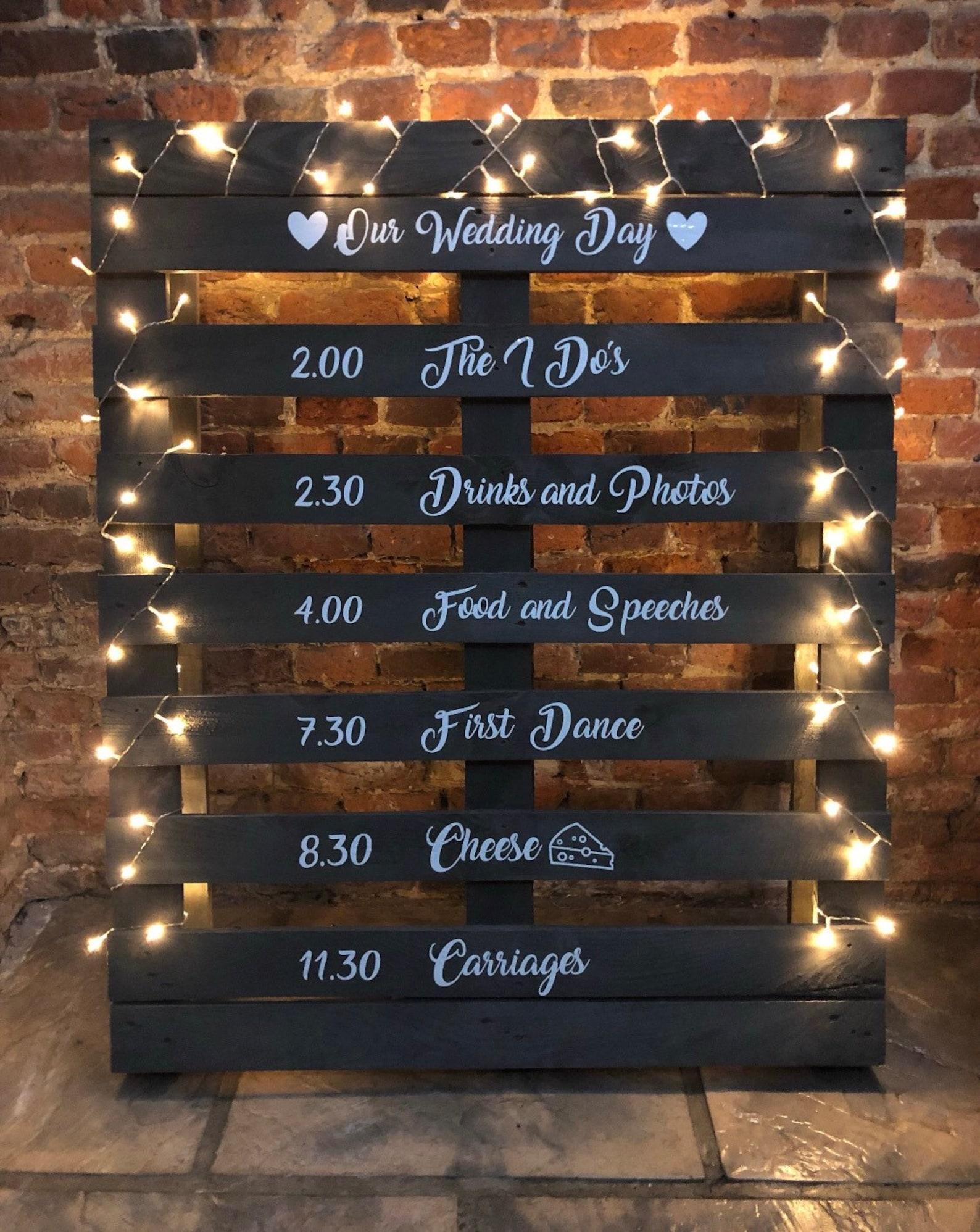 Wooden pallet DIY Wedding welcome sign