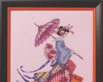 """MD153 """"Miss Cherry Blossom"""" Mirabilia Design Cross Stitch Chart With Embellishment Pack MD153E +Special Threads"""