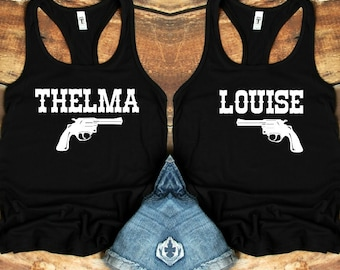 ef93f14c Thelma And Louise Shirts, Partners In Crime Shirts, Thelma And Louise,  Bestfriends Tshirt Set, Bestfriend Gift, Women's Western Tshirt