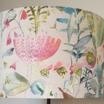 June Blossom fabric by Voyage - Drum Lampshade - handmade lamp shades in 3 sizes!