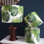 Tropical Leaf Drum Lampshade - handmade lamp shades in 3 sizes!