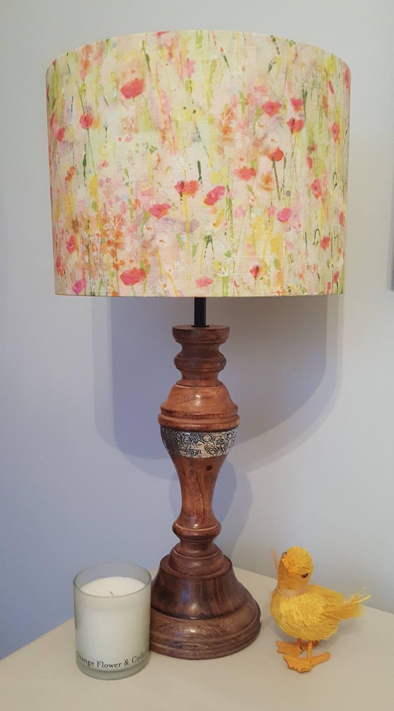 Summer Meadow fabric by Sue Fenlon  Drum Lampshade  handmade image 0