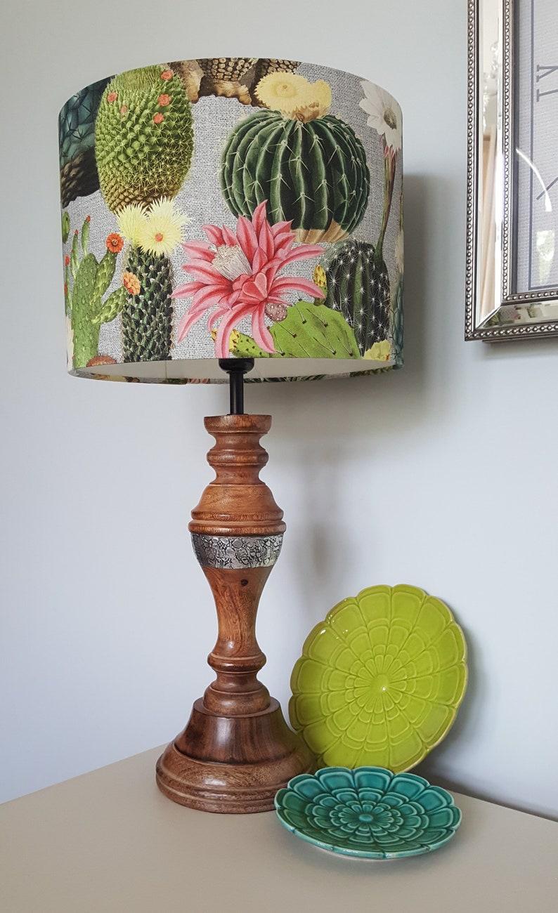 Cactus Drum Lampshade  handmade lamp shades in 3 sizes image 0