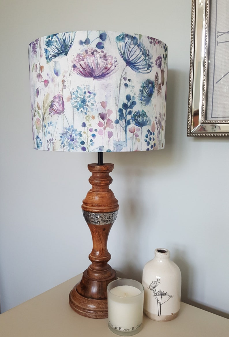 Meadow fabric by Voyage Maison  Drum Lampshade  handmade image 0