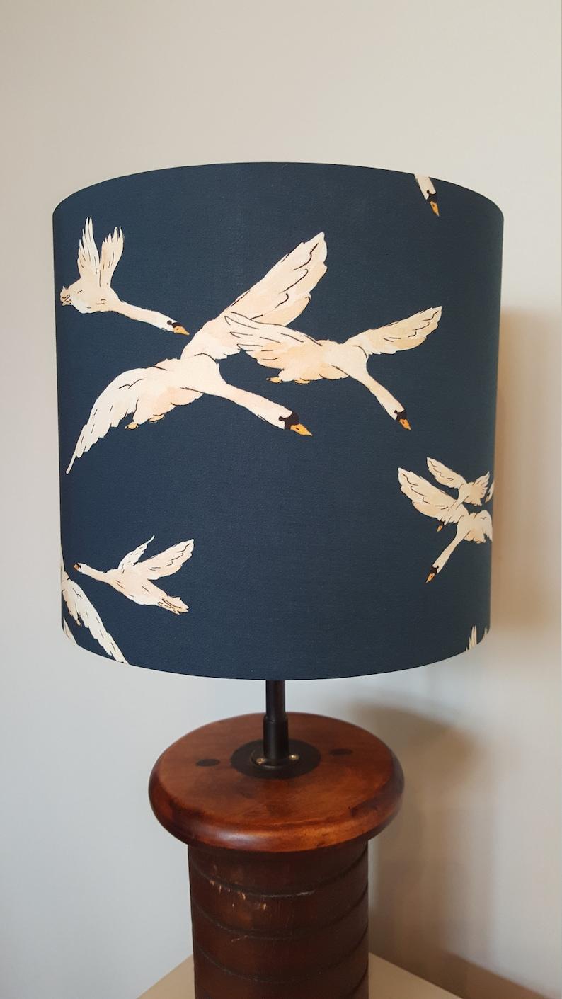 Cygnus Return Drum Lampshade  handmade lamp shades in 2 image 0