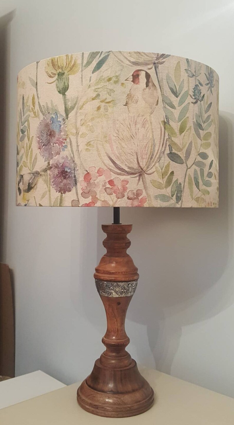 Morning Chorus Mayberry fabric by Voyage  Drum Lampshade  image 0