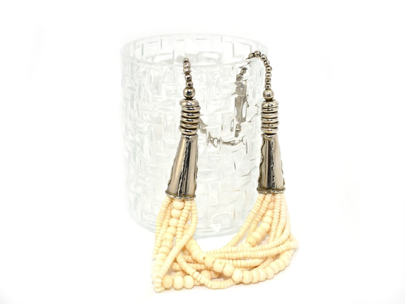 Bone multi strand necklace