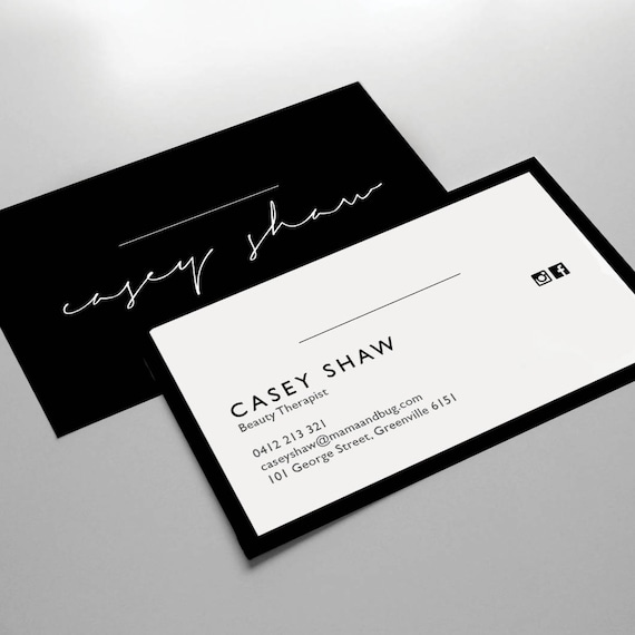 Business Card Design Business Card Template Small Business Pre Made Business Card Downloadable Printable Business Card