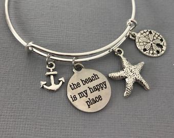 Summer Jewelry - Beach Jewelry - Beach Bracelet - Ocean Jewelry - Summer Bracelet - Nautical Jewelry - Mothers Day - Gift For Her - Bangle