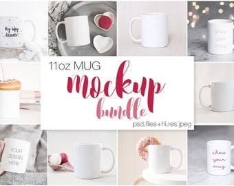 Download Free 11oz Ceramic Mug Mockup Bundle / Styled Mockups / Minimalist and Femenine / Woman Holding Mug / Lifestyle Styled Scene / Sublimation Coffee PSD Template