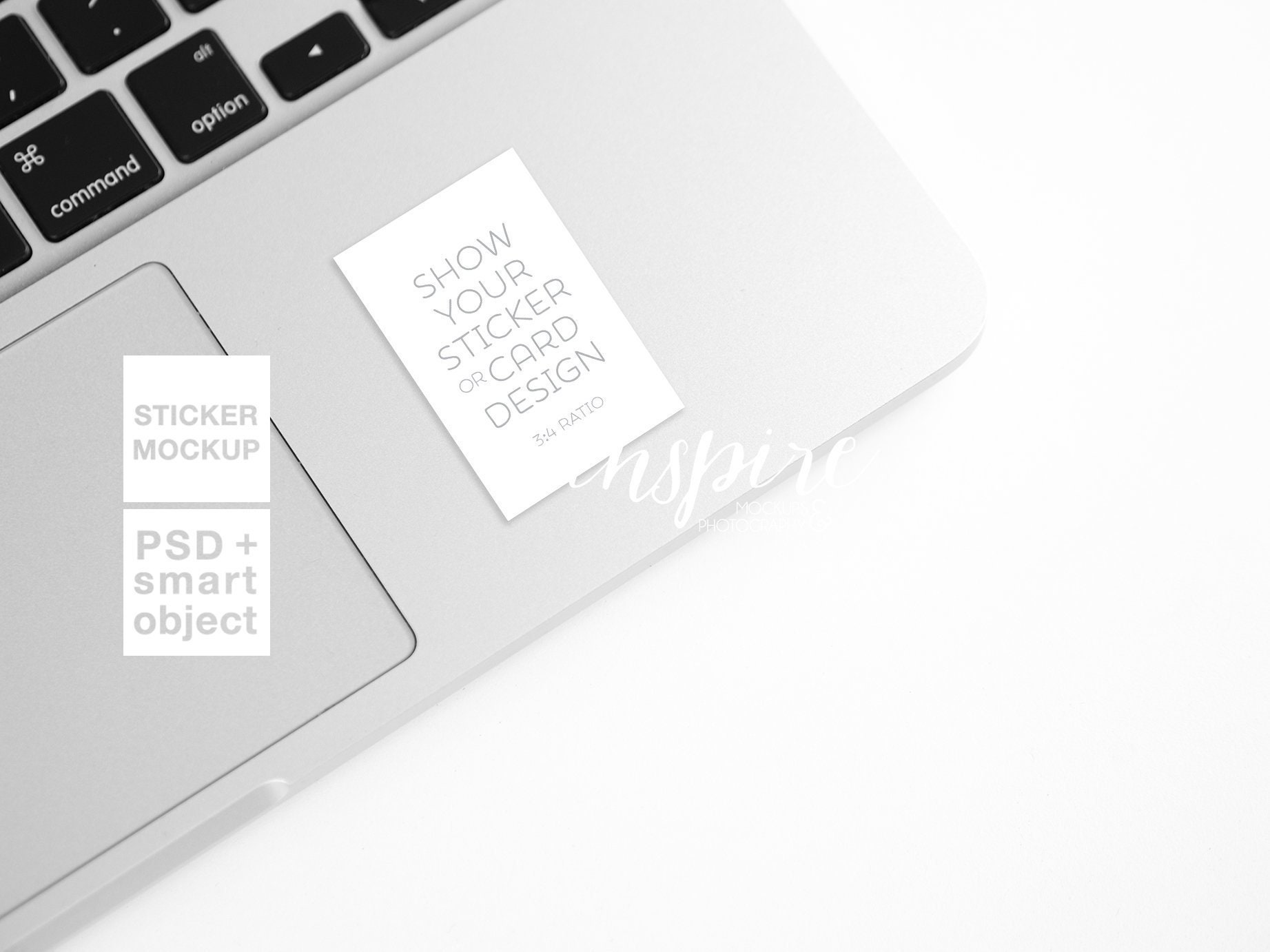 Rectangle Vynil Decal Mockup Laptop Styled Stock Photography Etsy