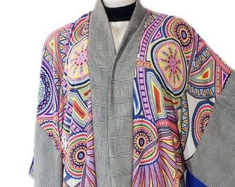 Plus Size Yukata Style Kimono Duster Robe