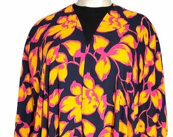 Floral Kaftan Dress Robe Cover-Up Cardigan