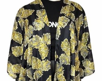 Floral Kaftan Robe Cover-Up Cardigan