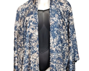Abstract Print Kimono Duster Robe Cover Up