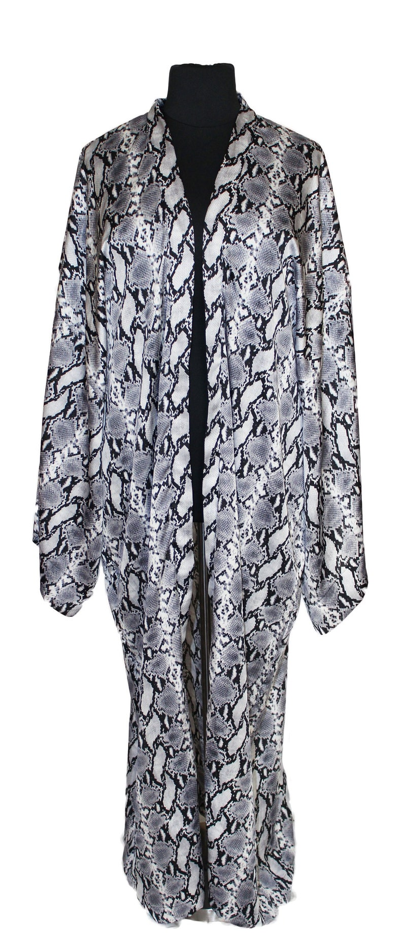 Plus Size Animal Print Kimono Plus Size Duster Swimsuit Cover image 0