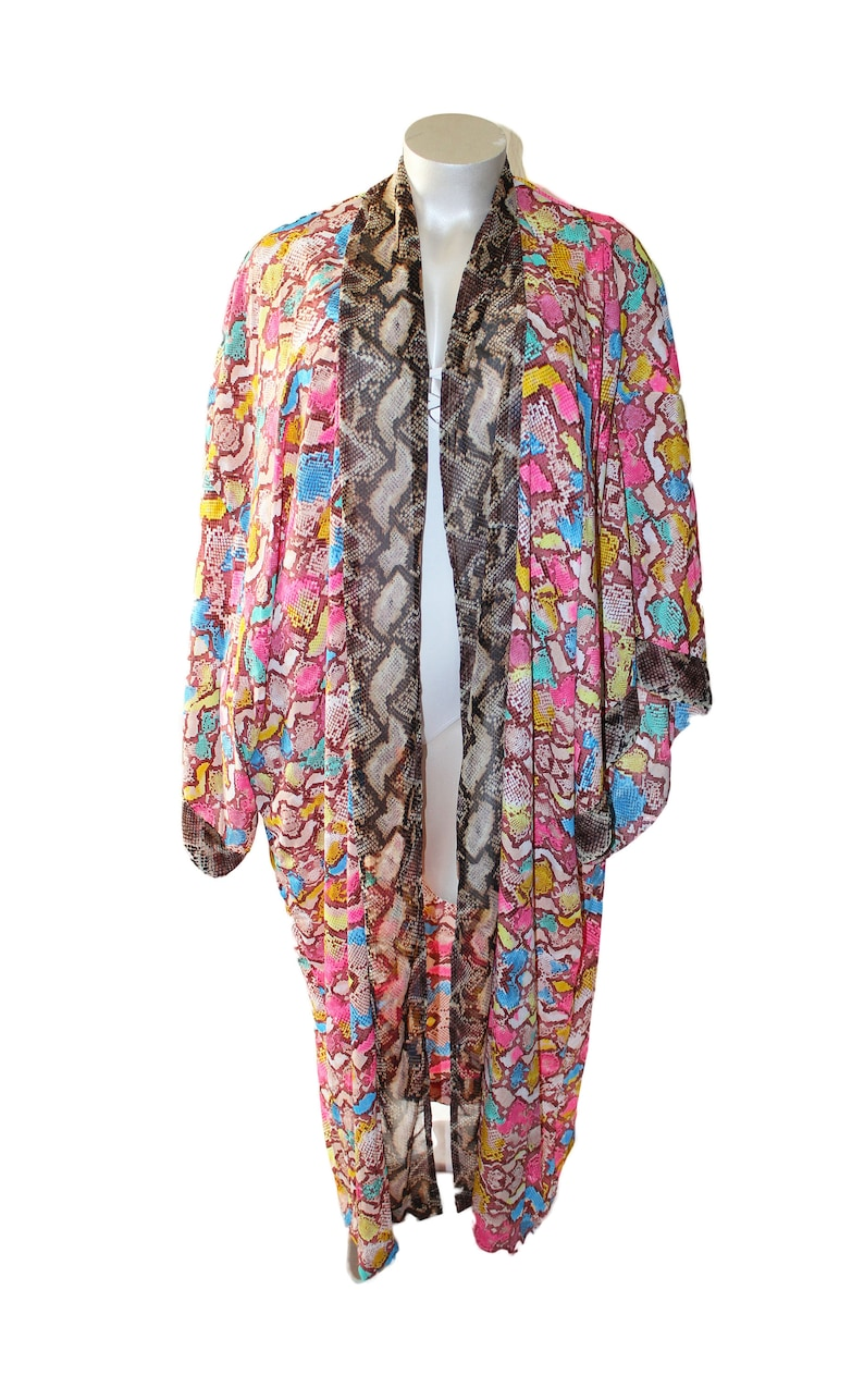 Unicorn serpiente robe long kimono animal print chic style image 0
