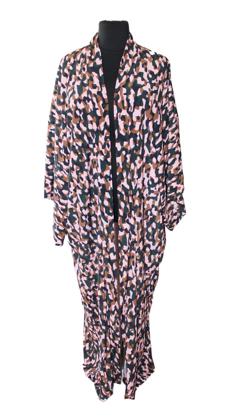 Plus Size Kimono Plus Size Duster Camouflage image 0