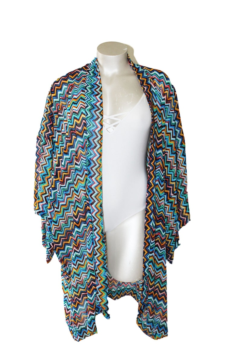 Chevy Plus Size Kimono Cardigan Cover Up image 0