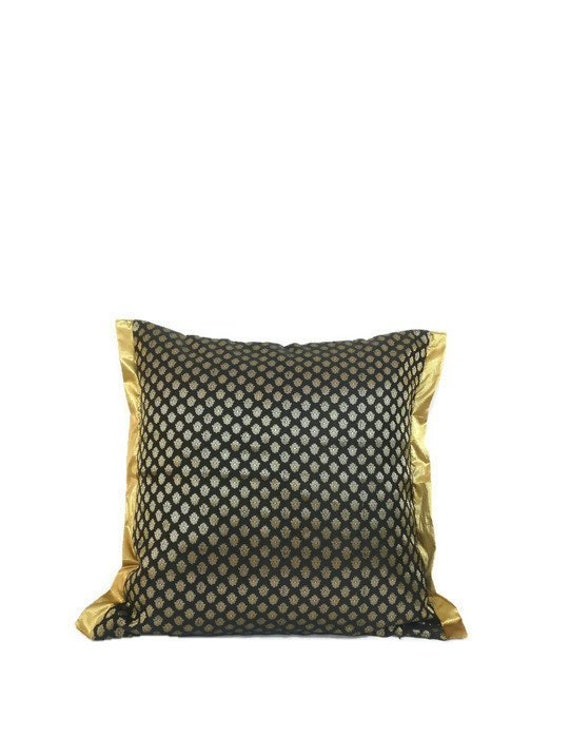 Black And Gold Decorative Pillows  from i.etsystatic.com