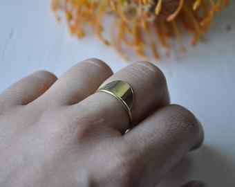 Messing Halbmond Ring