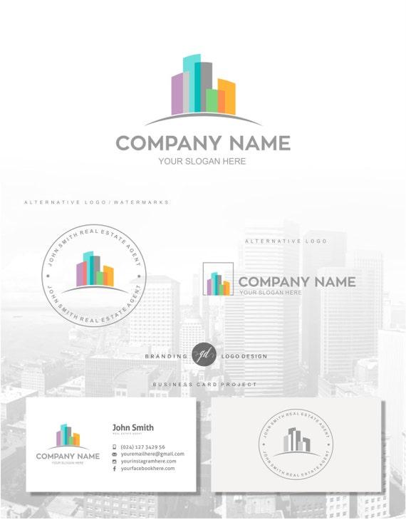 Real Estate Logo House Agent Logo Design Interior Designer Etsy