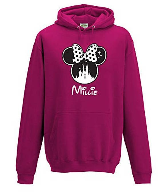 Personalised Disney Minnie Name Hoodie Choose Your Name and | Etsy