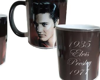 Elvis Presley Black Colour Change Mug Color Change Mug