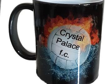 Football Black Colour Change Mug Color Change Mug