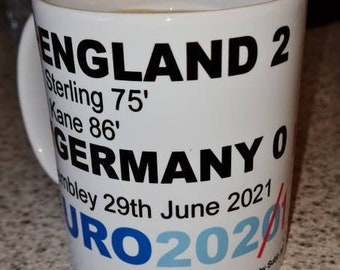 England v Germany Euro 2020 mug