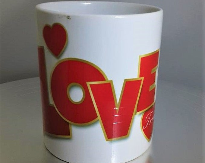 Featured listing image: Personalised Love Heart Handle 'Love' Mug Valentine's Gift