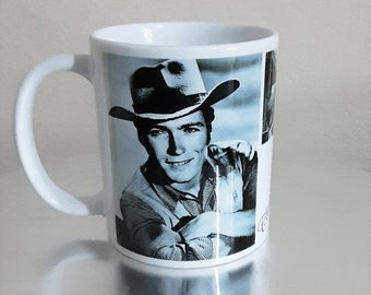 Clint Eastwood White Ceramic Mug Gift Shop Film Stars of Yesteryear Personalised Gifts