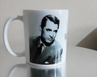 Cary Grant White Ceramic Mug Gift Shop Film Stars of Yesteryear Personalised Gifts