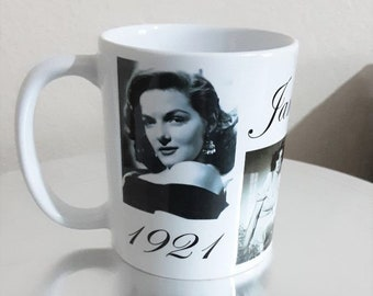 Jane Russell White Ceramic Mug No:1 Gift Shop Film Stars of Yesteryear Personalised Gifts