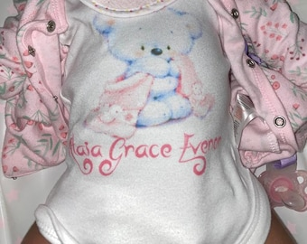 Personalised Baby Short Sleeve Vest Children's Clothes Personalised Gifts