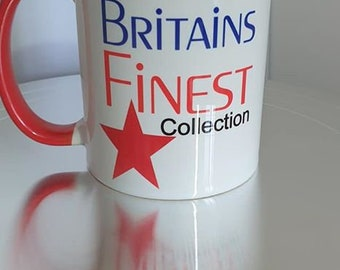Our Britain's Finest Mug Collection  Red Handle and Rim Mug Series 3