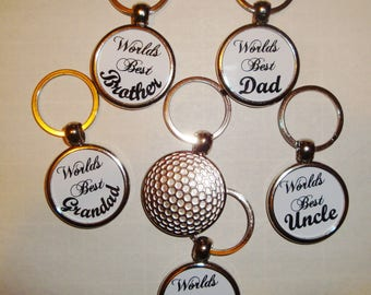 Personalised Key Ring Golf Ball Metal Personalised Gifts