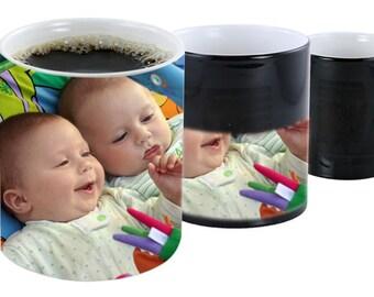 Personalised Black Colour Change Mug