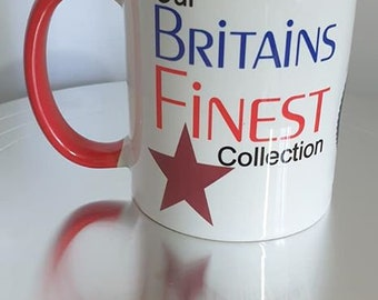 Our Britain's Finest Mug Collection  Red Handle and Rim Mug Series 2