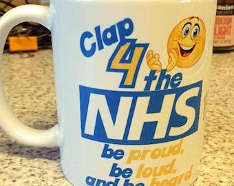 Personalised Clap 4 the NHS Mug
