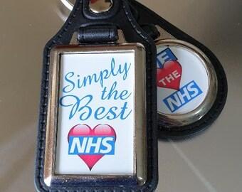 NHS Leather Key Rings