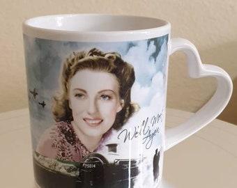 Dame Vera Lynn Heart Handle Mug