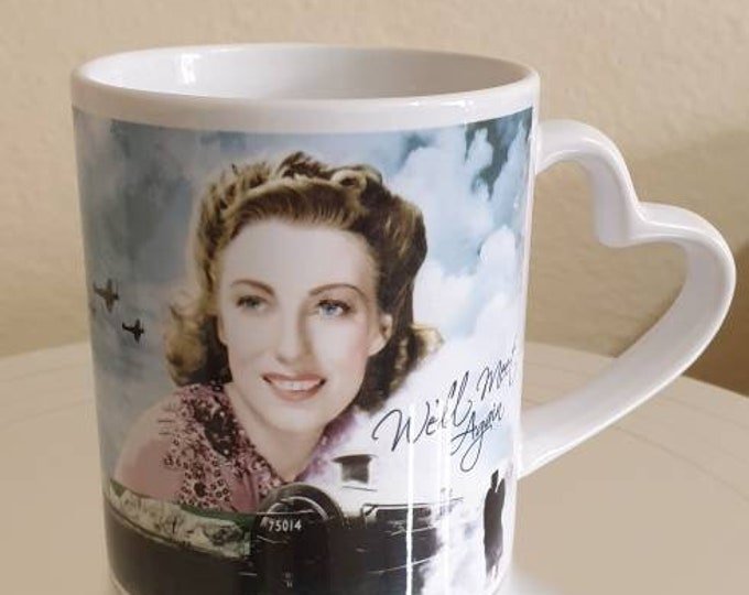 Featured listing image: Dame Vera Lynn Heart Handle Mug