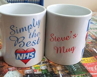 Personalised We love the NHS mug