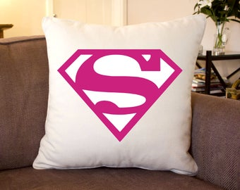 SuperGirl Silk Feel Cushion 35 cm Sq