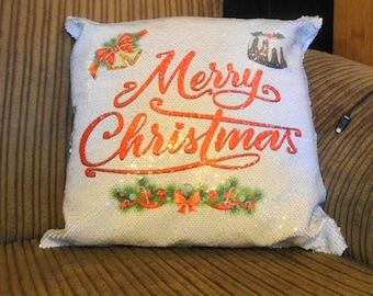 Personalised Sequin Front Cushion 40cm