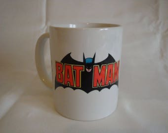 Personalised Batman Logo & Bat mobile Mug