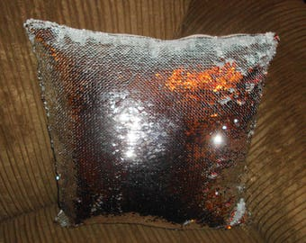 Personalised Together Forever Silver Sequin Cushion 40 x 40 cm Gifts