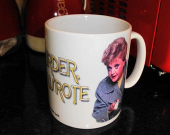 Personalised Angela Lansbury Murder She Wrote White 10oz Ceramic Mug **FREE SHIPPING**